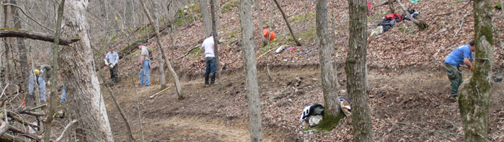 Volunteer - Building trail for all to enjoy.