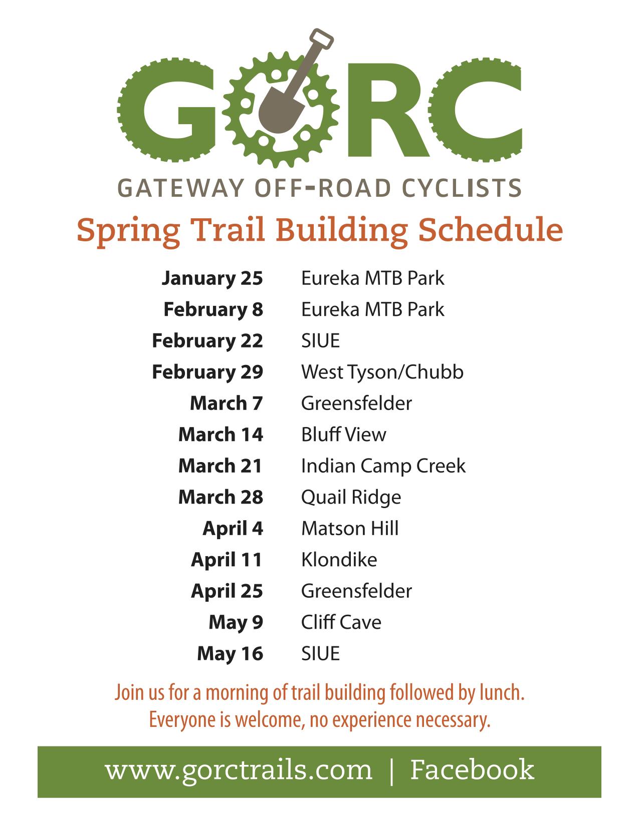 Spring 2020 schedule