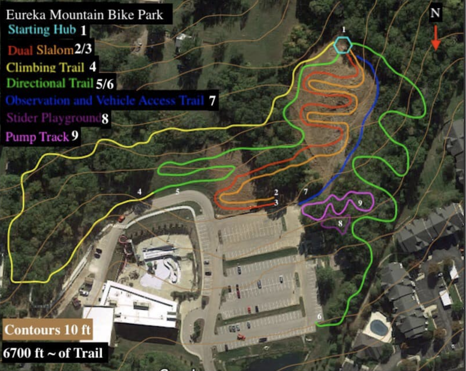 Timbers - Proposed MTB Park map
