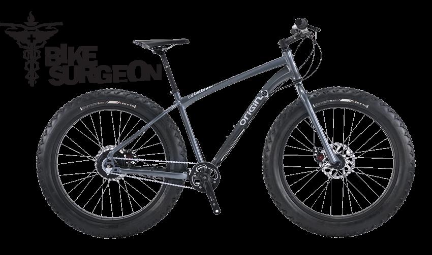2016 Spring trail building raffle Origin8 Crawler fat bike donated by Bike Surgeon