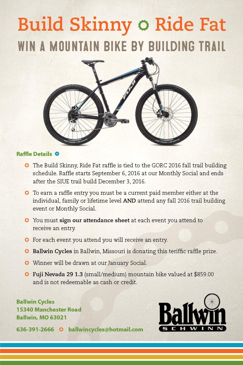Fuji Nevada 29 donated by Ballwin Cycles