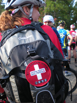 Bike Patroller with patch