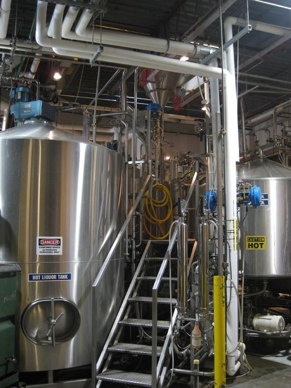 Schlafly Bottleworks brewhouse