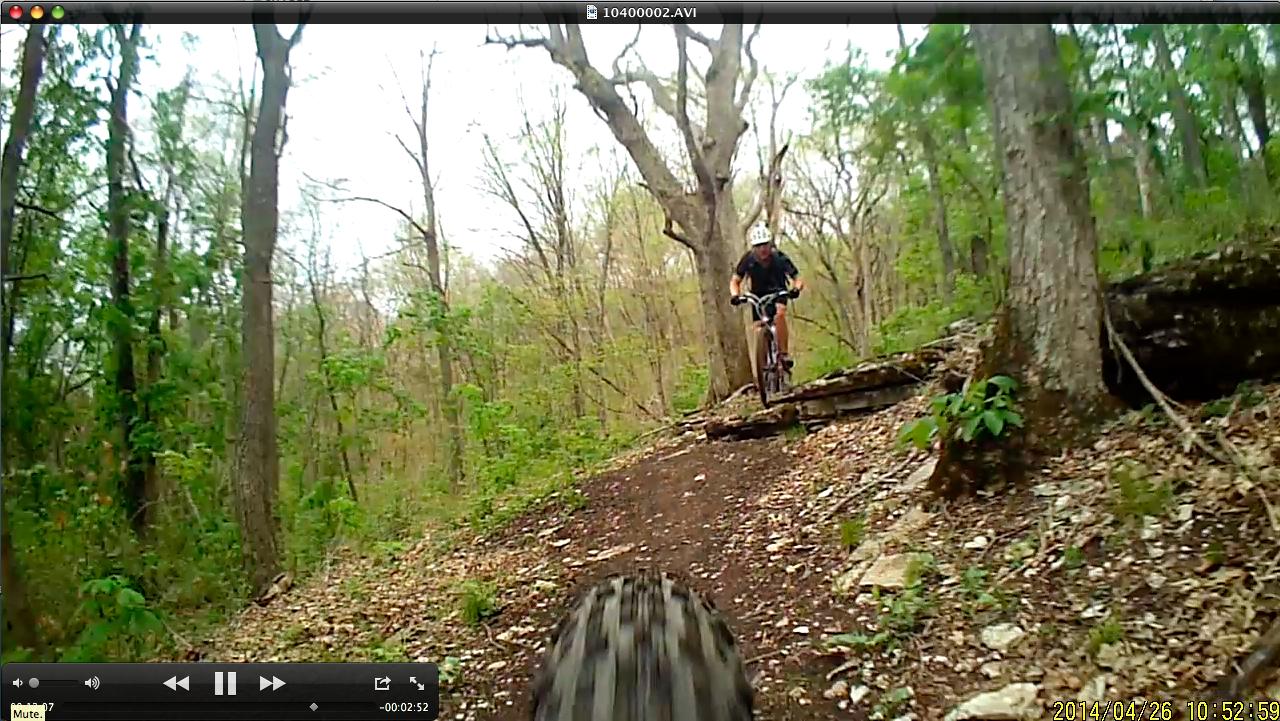 Fly6 footage on a mountain bike