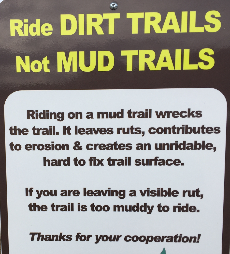 Muddy Trail Sign