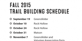 2015 Fall Trailbuilding Schedule