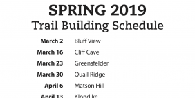 2019 Spring Trail Building Schedule