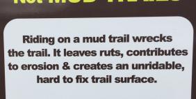 Muddy Trail Sign